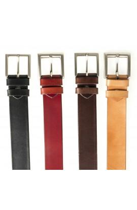 Cinturón de coiro auténtico -Básico-
