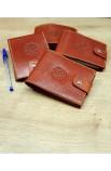 Funda pequeña de cuero para cuaderno