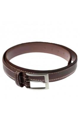 Cinturón de cuero con doble pespunte