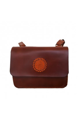 Hand-stitched leather bag