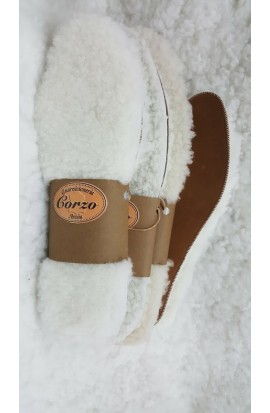 natural leather and sheepskin insoles